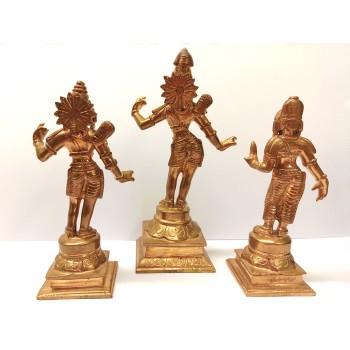 Sita (12,5 cm), Rama (15,5 cm) & Lakshman (13 cm)