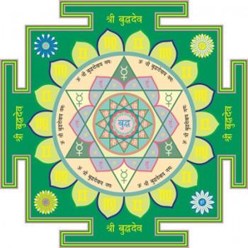 "Buddha Deva Yantra (Mercury, North) 16,5"" x 16,5"""