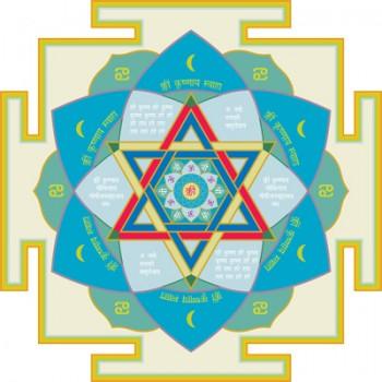 "Krishna Gayatri Yantra (Moon, Northwest) 16,5"" x 16,5"""