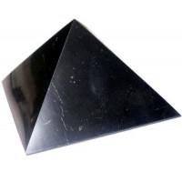 Schungit-Pyramiden - 4 Stück, poliert (à ca. 3 x 3 cm)