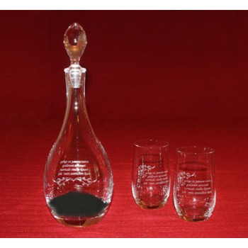 Mantra Carafe and 6 Glasses + 1000 g Shungit Stones