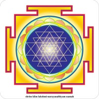 "The Shri Yantra Sticker 4,7"" x 4,7"""