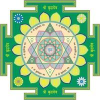 "Buddha Deva Yantra (Mercury, North) 7"" x 7"""