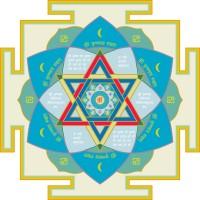 "Krishna Gayatri Yantra (Moon, Northwest) 7"" x 7"""