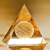 Der Sphärenkristall - Die Blume des ewigen Lebens in 3D - Pyramide